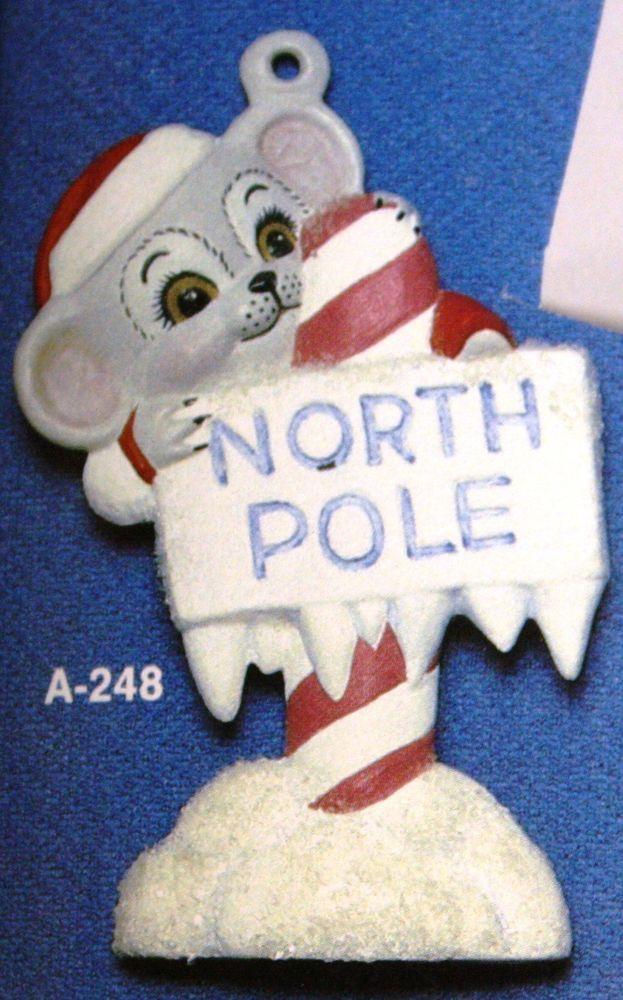 Ceramic Bisque Christmas Ornament Boy Mouse Ice Skater Alberta Mold 287 U-Paint