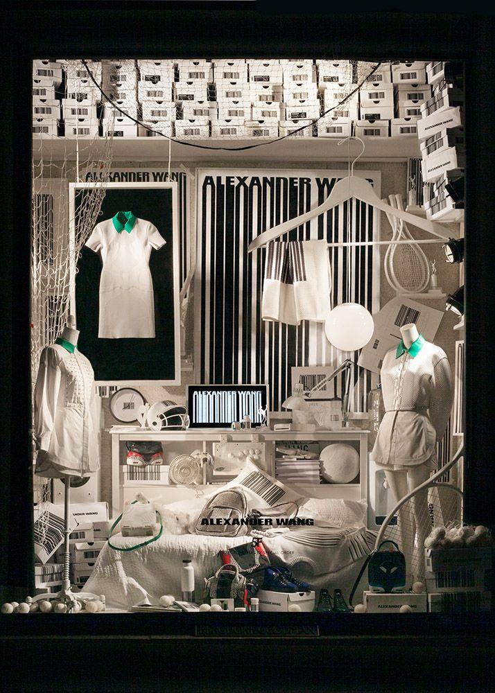 "Bergdorf Goodman, New York, presents: Alexander Wang, ""Interpretation of a sneakerhead's fantasy domain,with the modern and clean sneaker lover in mind"", pinned by Ton van der Veer"
