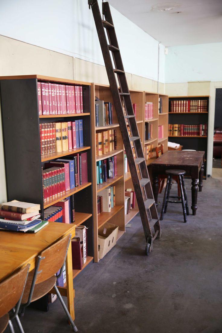 Studio 8 Textural Canvas Studio Sydney Props Photo Studio - school classroom, library, library ladder, books, desks