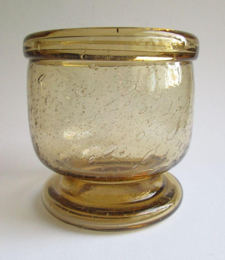 Footed Sargasso vase in brown 'rakkolasia' or 'blister glass' designed in 1966 by Kaj Franck for Nuutajärvi Notsjö Finland by SCALDESIGN on Etsy