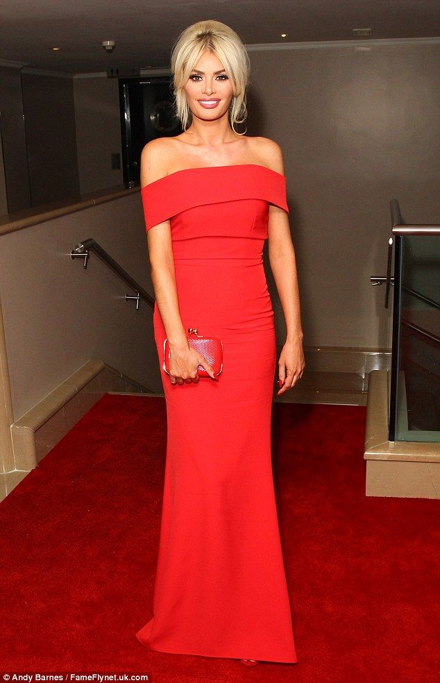 Keeping it classy: Chloe Sims was a vision of sophisticated style as she stepped out to a charity gala in London on Wednesday evening