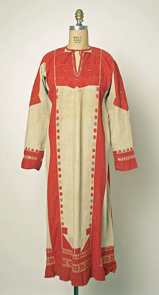 Robe Date: 1800–1939 Culture: probably Russian Medium: linen, cotton