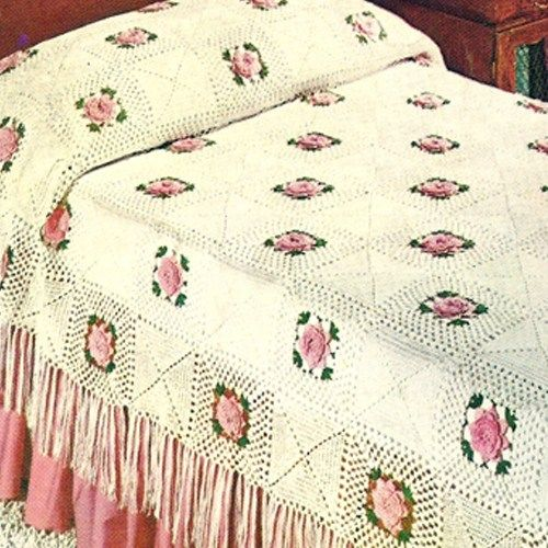Bedspread In Crochet
