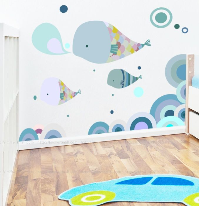 Jenny Sweet Dolphin Bedroom Removable Nursery Large Wall Sticker Decals