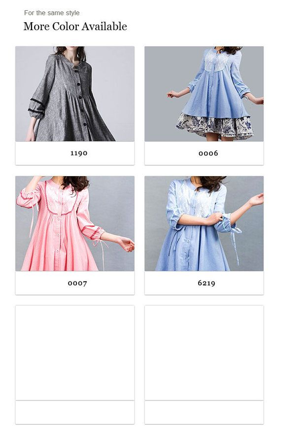 shirt-jurk knop ingedrukt jurk zomer jurkjes linnen door xiaolizi