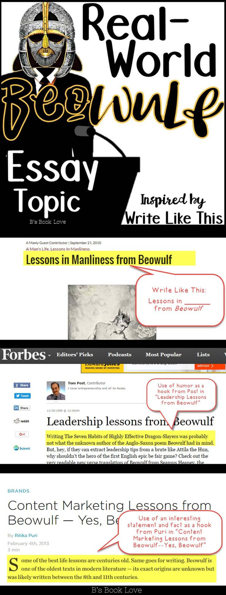 best images about beowulf lesson plans and activities for real world beowulf essay prompt using mentor texts about beowulf beowulf informational texts blog