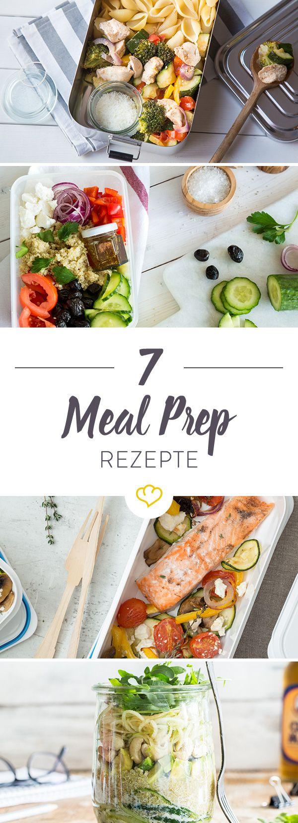 Meal Prep steht für Vorkochen und Mitnehmen der Mahlzeiten. Hier erfährst du etwas mehr zu dem neuen Trend und bekommst 7 Rezepte für deine Woche.