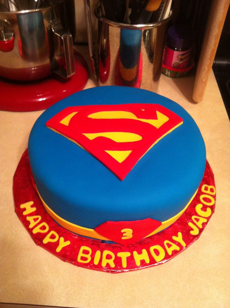Superman birthday cake images for Superman template for cake