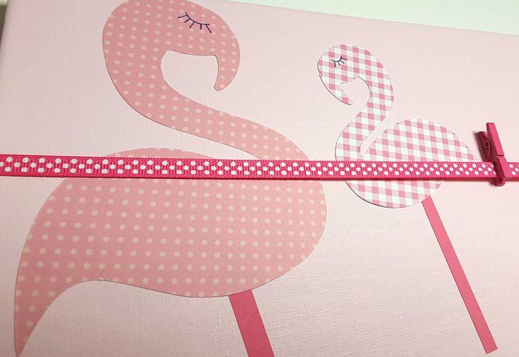 Pêle-Mêle Flamants roses Cadeau de naissance, chambre de petite fille, déco rose, décoration chambre, chambre rose, déco murale