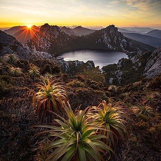 Arthur Ranges in the Tasmanian Wilderness Heritage Area.