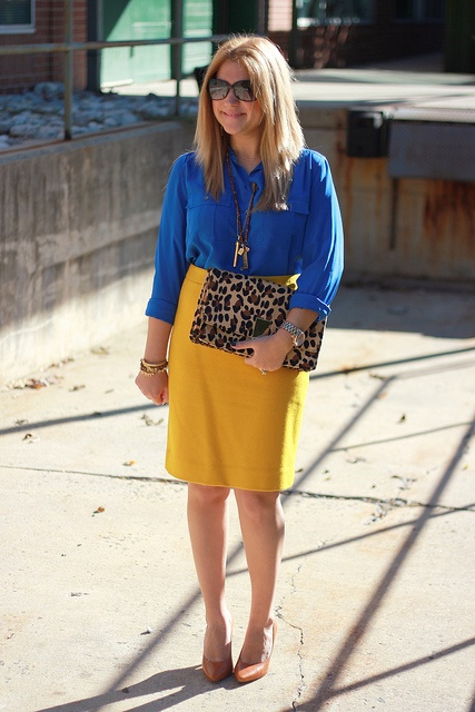 Primary colors with a pop of animal print!