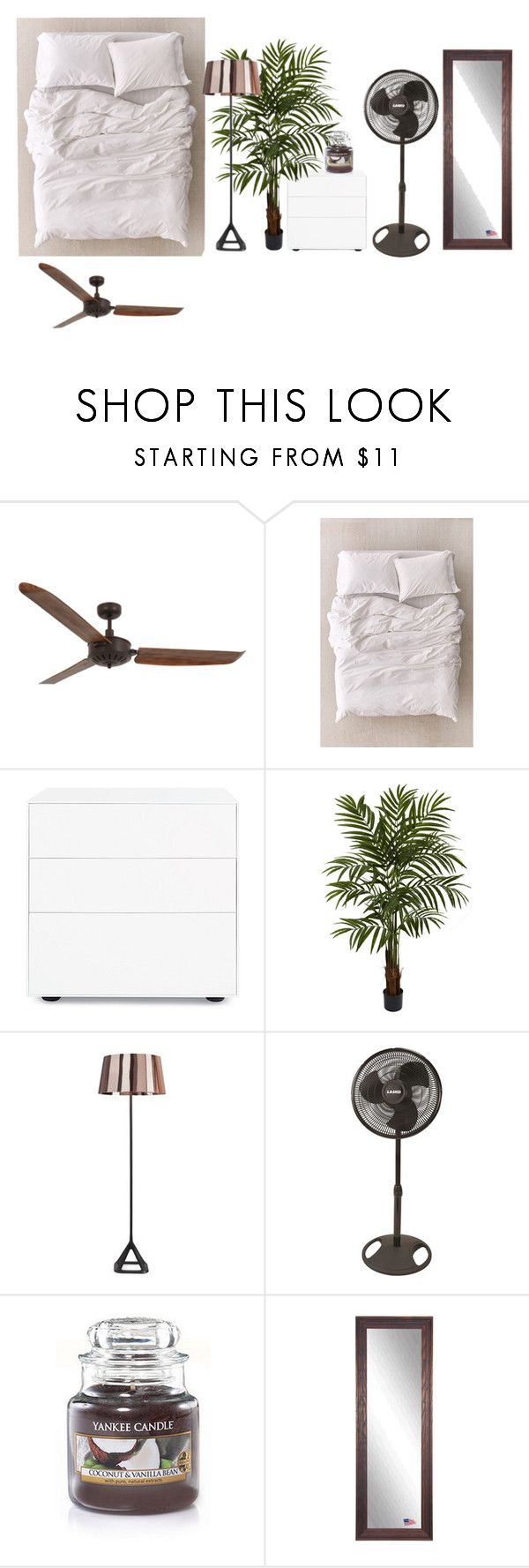 """""""Untitled #403"""" by dalyialashea on Polyvore featuring Lucci Air, Urban Outfitters, Design Within Reach, Nearly Natural, Tom Dixon, Lasko and Rayne"""