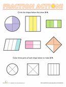 First Grade Fraction Worksheets