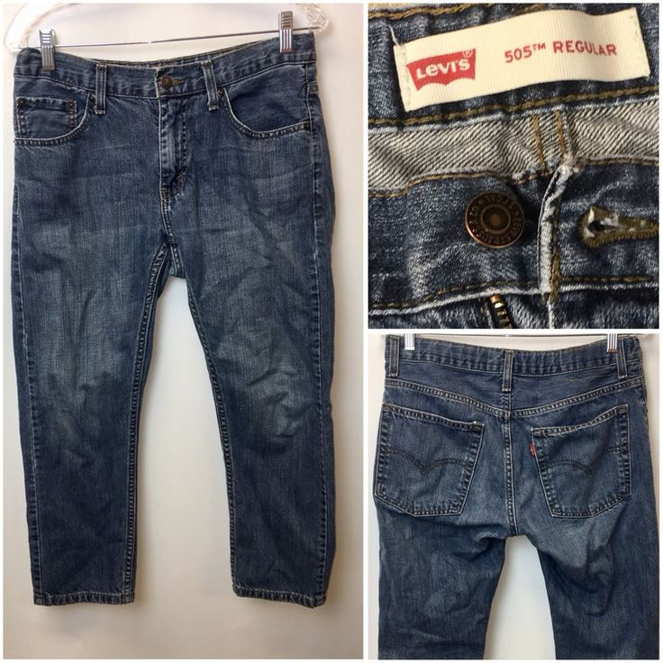 Levis 505 Jeans Boys Size 10 Husky 30 x 36 Dark Wash | OO #Levis