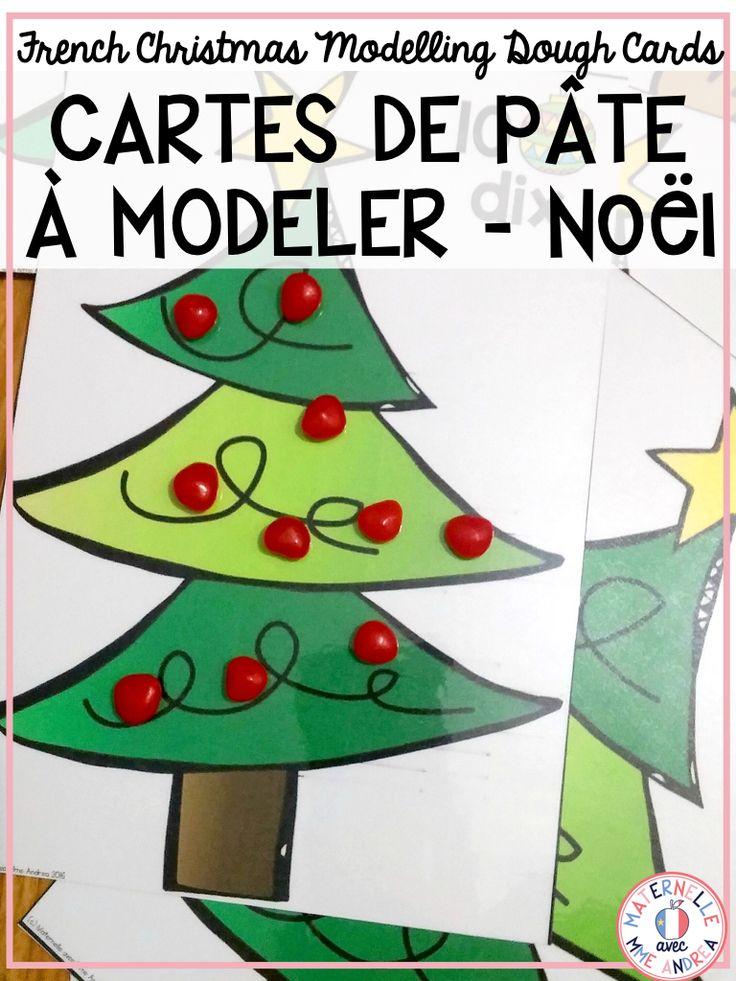 Cartes de pâte à modeler - Noël (FRENCH Christmas counting play dough mats) | Éducation ...