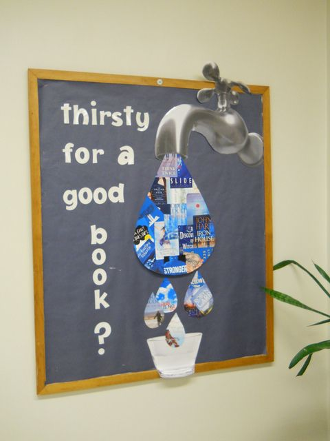 Idea for library bulletin board