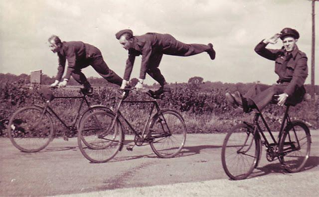 Dywizjon 303, praktykowanie na rowerach :)