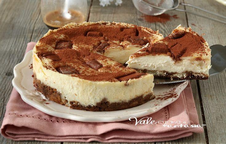 TORTA TIRAMISU AL FORNO con mascarpone e caffè, il classico tiramisù ma in versione cotta, ricetta dolce al caffè facile e veloce