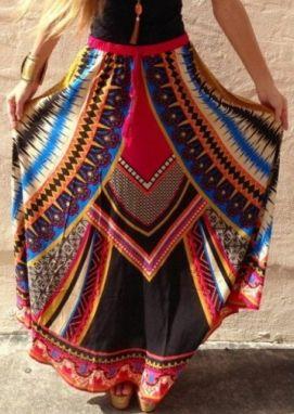 богемная юбка
