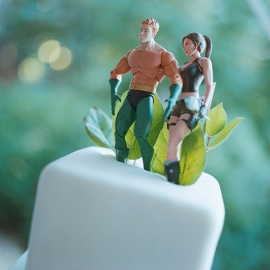 Cute/funny wedding cake topper