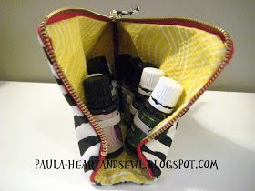 Heart and Sew'l....pieces of handmade love: ~travel case for essential oil bottles~