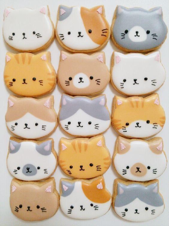 (24) 日本人のおやつ♫(^ω^) Japanese Sweets 猫クッキー Cat Cookies Kittehs! ❁ なつきのアイシングクッキーのブログ ❁ -15ページ目 | 魅力的なスイーツ( ^ω^ ) | Pinterest