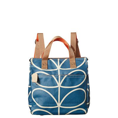 Orla Kiely Giant Linear Stem Print Small Backpack, Marine - - Orla Kiely  Handbags - Matt laminated small backpack in the 'Giant Linear Stem' print  with ...
