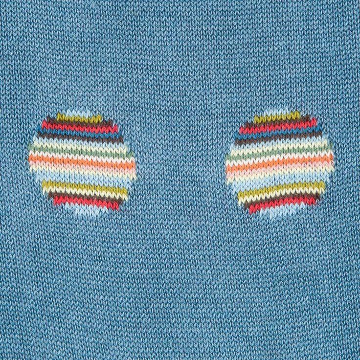 Paul Smith Men's Sky Blue Polka Dot Stripe Socks