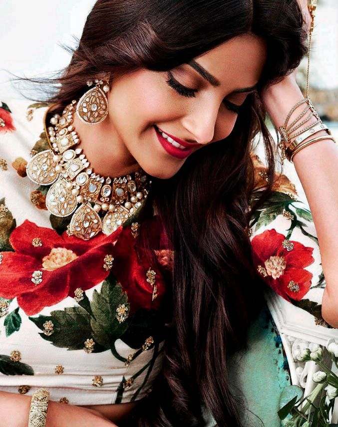 Daily Bollywood Queens — Sonam Kapoor for Khush Wedding Magazine April 2017