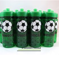 Soccer water bottles-great for teams or as party favors  www.mboston9.storenvy.com