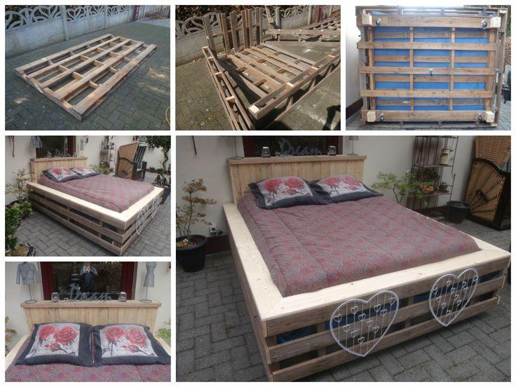 bed van grote pallets