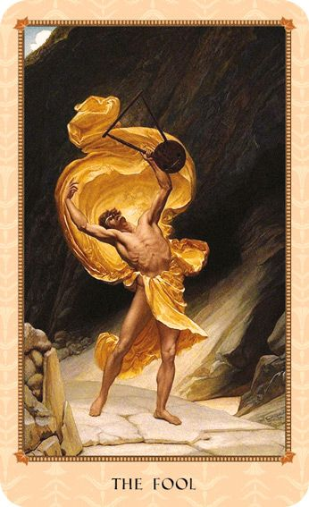 The Fool Tarot Card Meaning: Orpheus combines sacredness with foolishness and, thus, elevates The Fool to high myth. Read more on the Meanings of Myth and Tarot Blog. From the Tarot of Delphi.