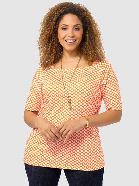 Tangerine Dots Top
