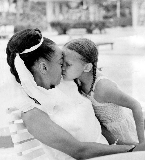 Eartha Kitt with her daughter Kitt McDonald