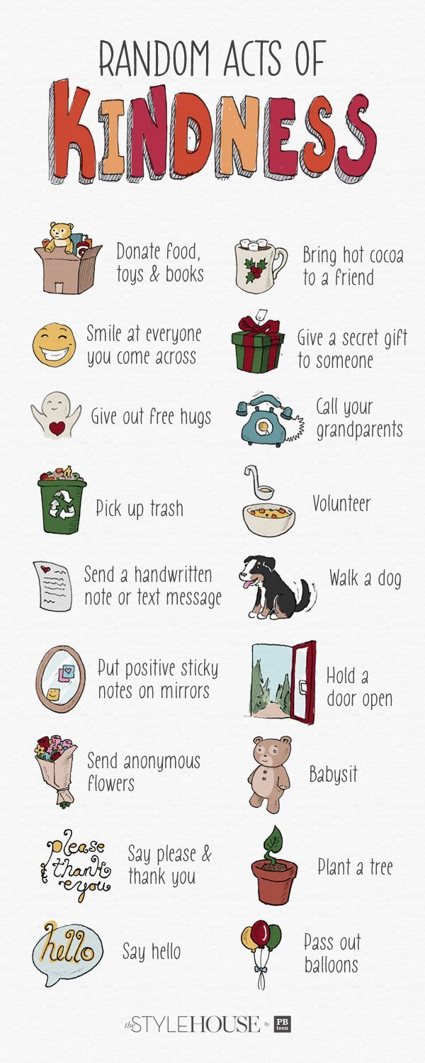 Random acts of kindness to incorporate into your life!