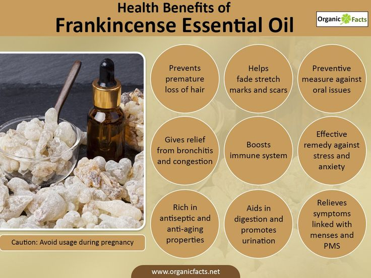 The health benefits of Frankincense Essential Oil can be attributed to its properties as an antiseptic, disinfectant, astringent, carminative.