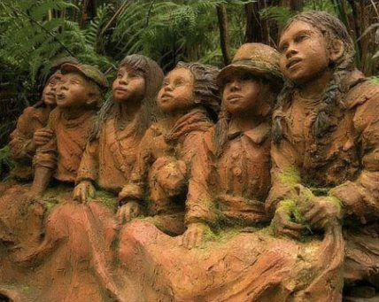 Magical Forest  ,Wooden Art.Gone by bushfires by Fliker_2000, via Flickr