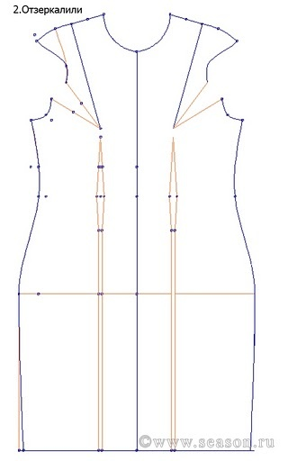 schema cartamodello tubino