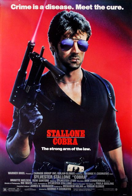 Cobra Movie Poster 1986 Sylvester Stallone | if only for the 50 Mercury!