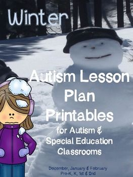 Winter Printables for Autism CLassrooms and Special Education Classrooms.