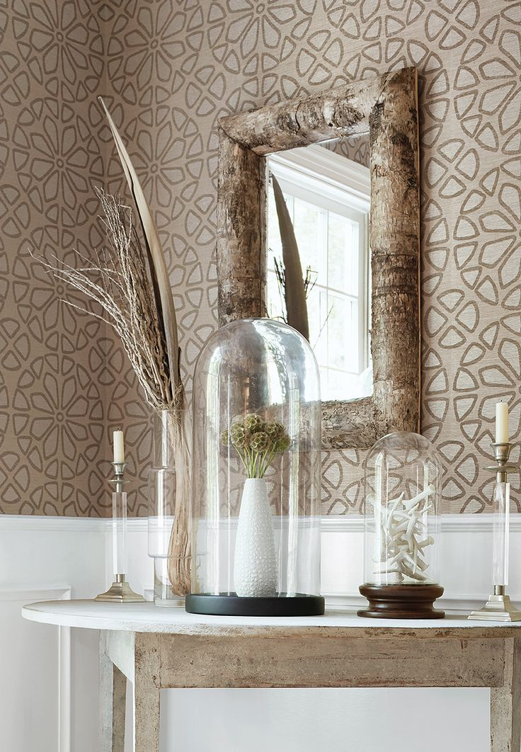 Zagora wallpaper in linen from the Grasscloth Resource 3
