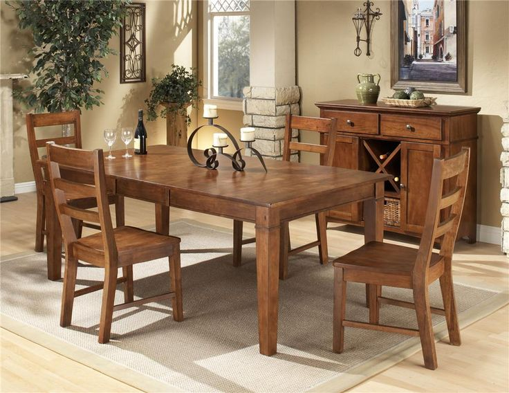 5 piece dining set by intercon old brick - Old Brick Dining Room Sets