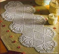 Resultado de imagen para ,mas imagenes caminos de mesa a crochet en colores.