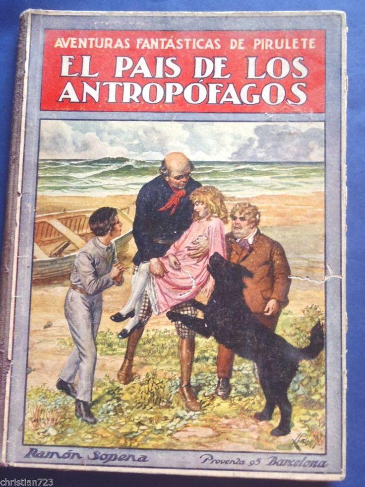 1922 EL PAIS DE LOS ANTROPOFAGOS FEDERICO TRUJILLO BEAUTIFUL ILLUST!! SPANISH