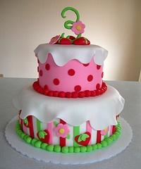 strawberry shortcake tier cake
