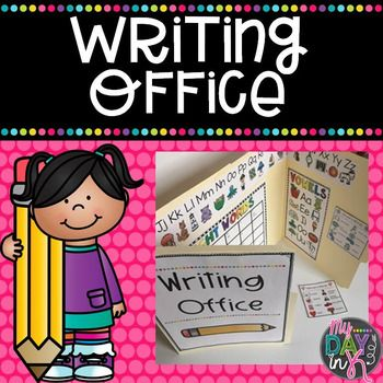 Writing time in my classroom is my favorite time. I love watching my students as they gain confidence in their writing.  I created these writing offices to help them foster more independence as they practice these skills.  Students love to use them and create areas in the classroom that are just for them.