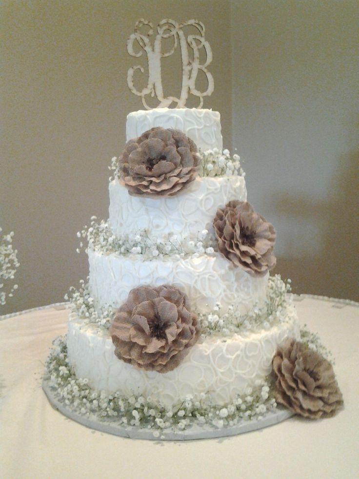 Rustic Babies Breath Wedding Cake - by Sprinkle it Sweet