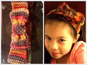headband with a bow - quick & easy knitting project