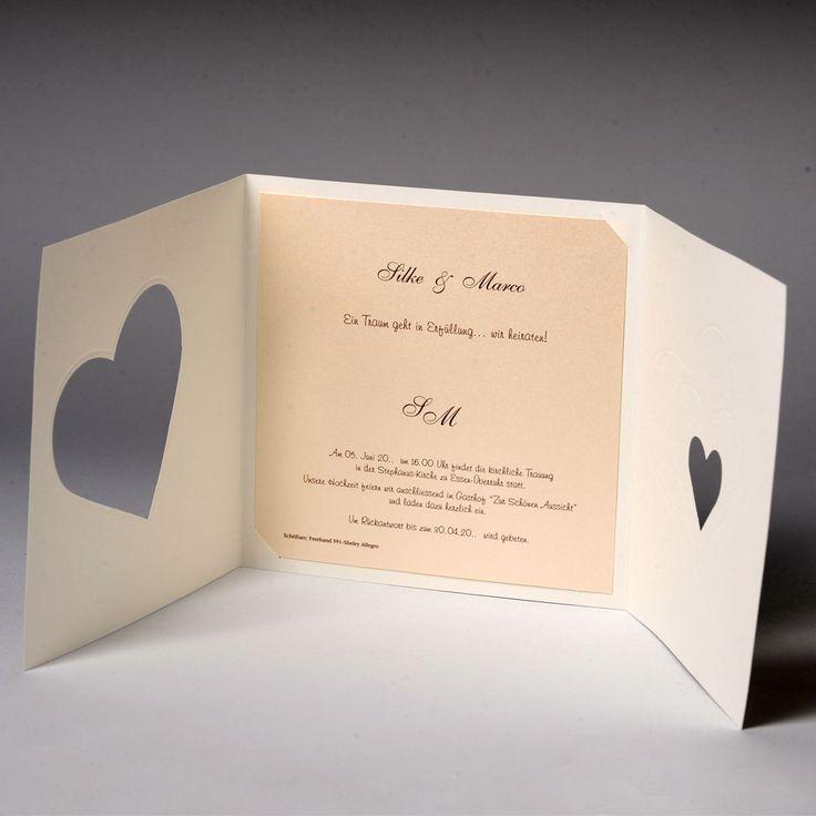 Hochzeitseinladungen, Edle Hochzeitskarten mit Umschlag ...