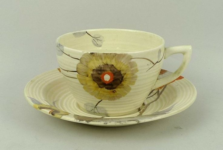 Clarice Cliff Rhodanthe teacup and saucer